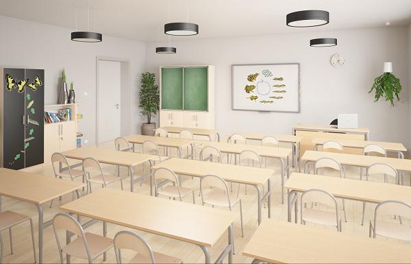 Wysokiej jakości, ławki i krzesła dla uczniów oraz biurka dla nauczycieli możliwe są do zakupienia w ramach kryterium VI.